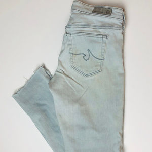 AG Skinny Ankle Legging Jeans Size 25R Raw Cuffs